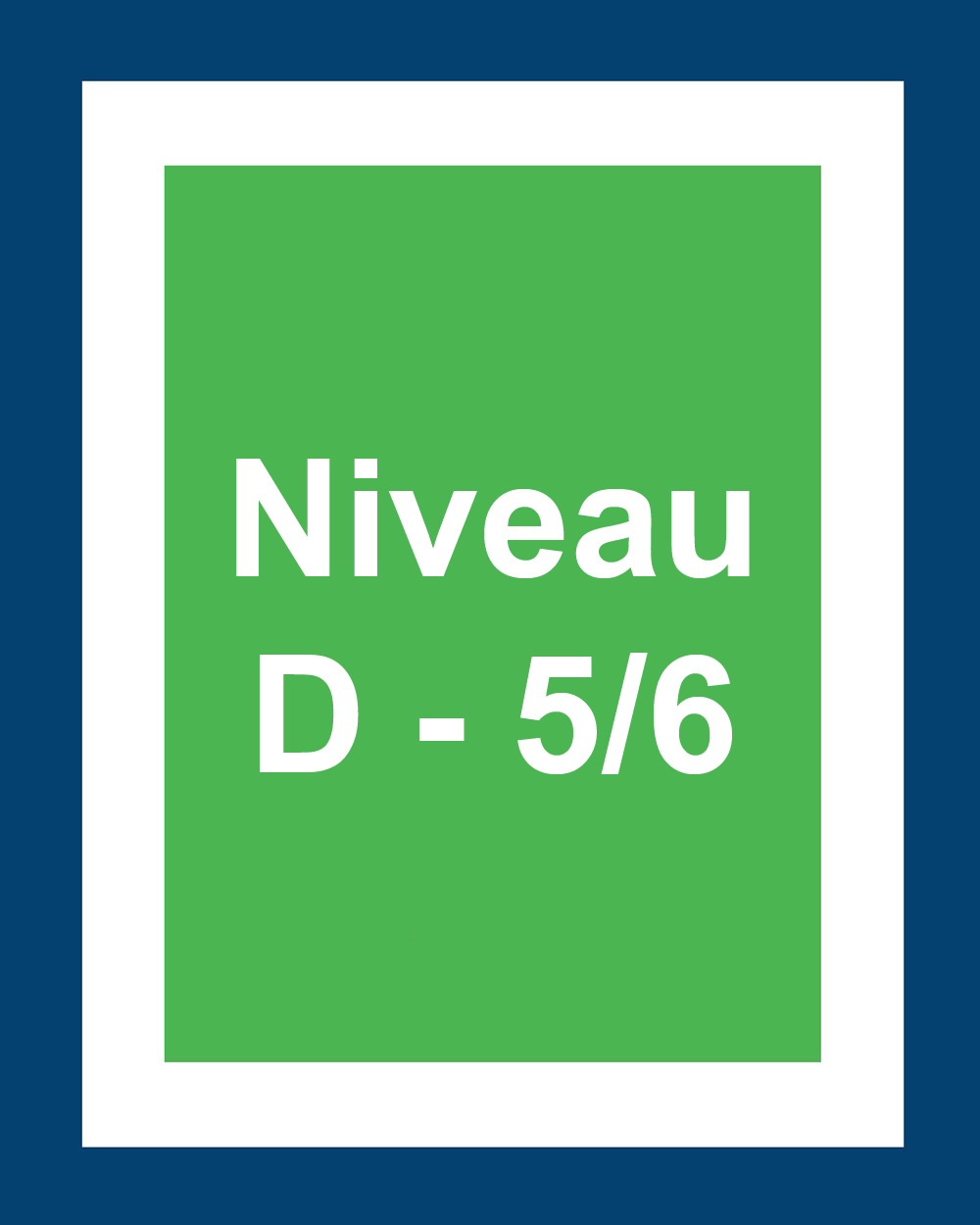 Niveaux 5 et 6